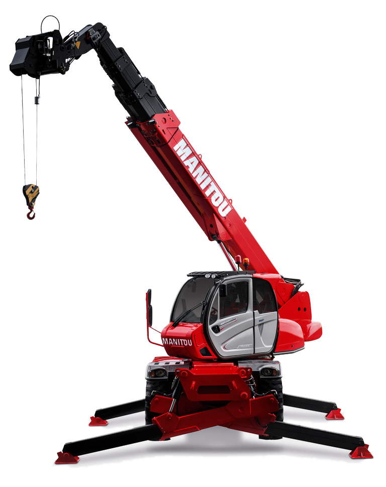 engin levage rotatif Manitou manutention transparent